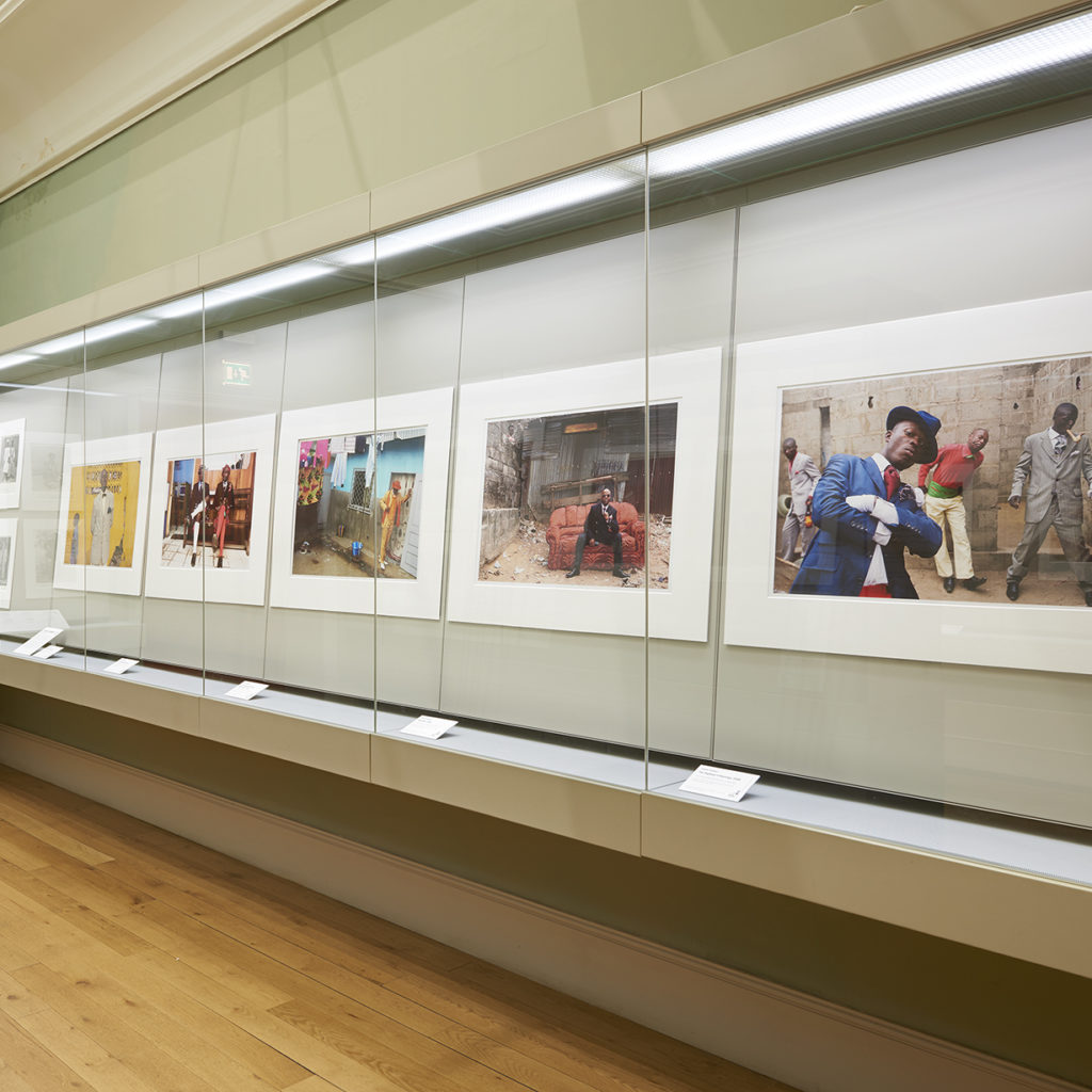 a selection of photographs from the collection on display at Brighton Museum.