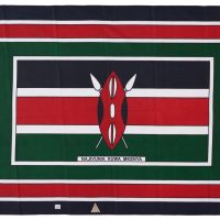 Pair of kangas featuring the Kenyan flag