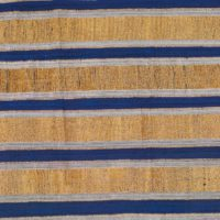 stripwoven aso-oke fabric in stripes of gold white and blue