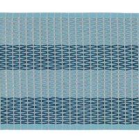 Pale and dark blue strip of aso-oke fabric