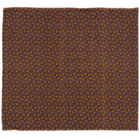 Brown and yellow floral printed cotton shweshwe fabric