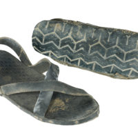 black sandals made from rubber car tyres