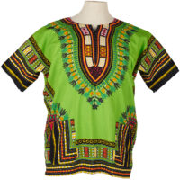 man's green dashiki shirt on a mannequin