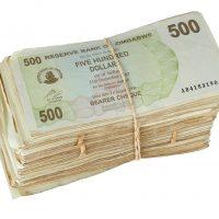 large bundle of paper money