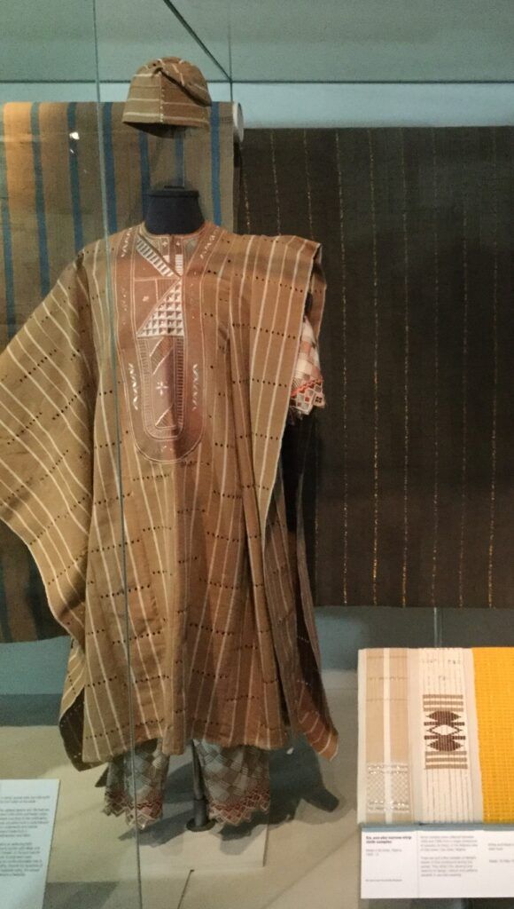 Museum display of aso-oke outfit