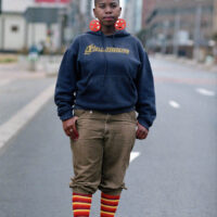 Street style portrait of a young black woman