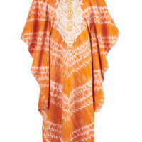 Orange and white tie dye kaftan