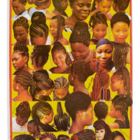 poster with photomontage of braided afro hair styles