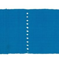 Turquoise strip of aso-oke fabric