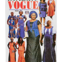 Cover of women's fashion magazine with women wearing aso-oke and African lace outfits
