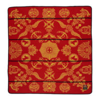 square red and yellow basotho blanket